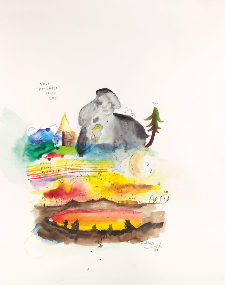 Portrait de Joni Mitchell par Friedrich Kunath