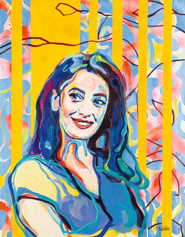 Portrait d'Amal Clooney par Charoula Nikolaidou