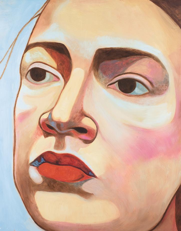 Portrait de Alexandra Ocasio Cortez par Inès Longevial