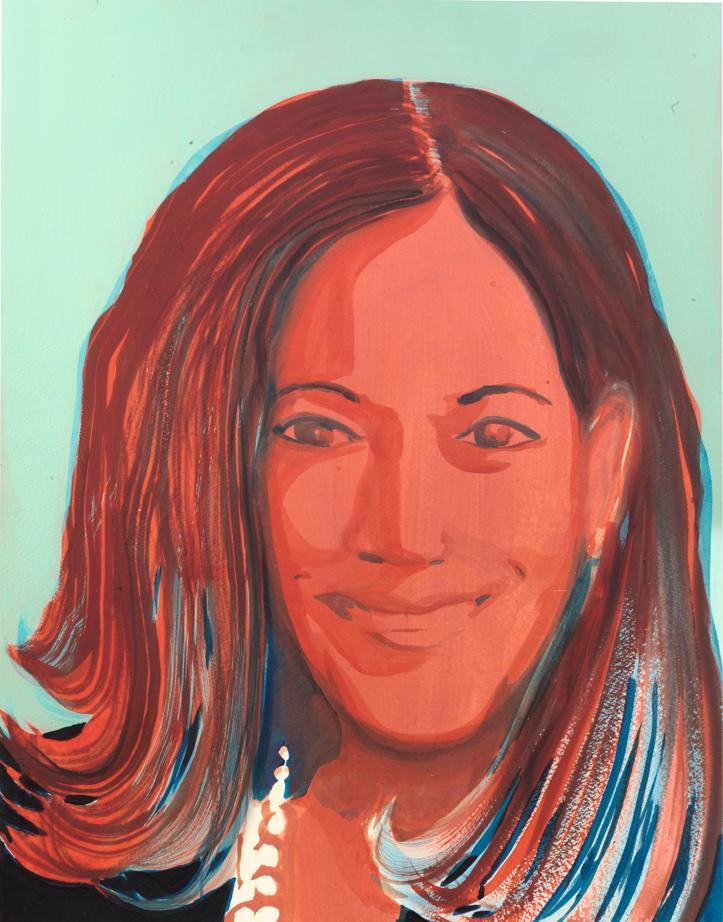 Portrait de Kamala Harris par Jules de Balincourt