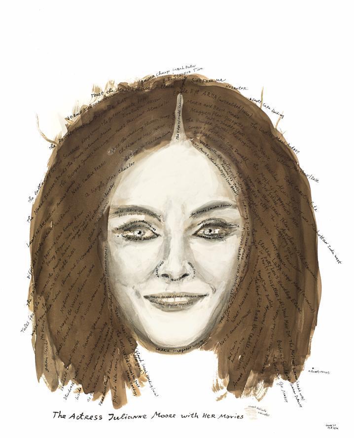 Portrait de Julianne Moore par Nedko Solakof