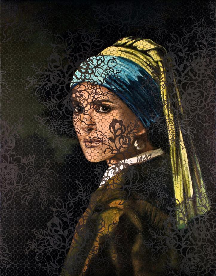 Portrait de Salma Hayek par Olivier Masmonteil