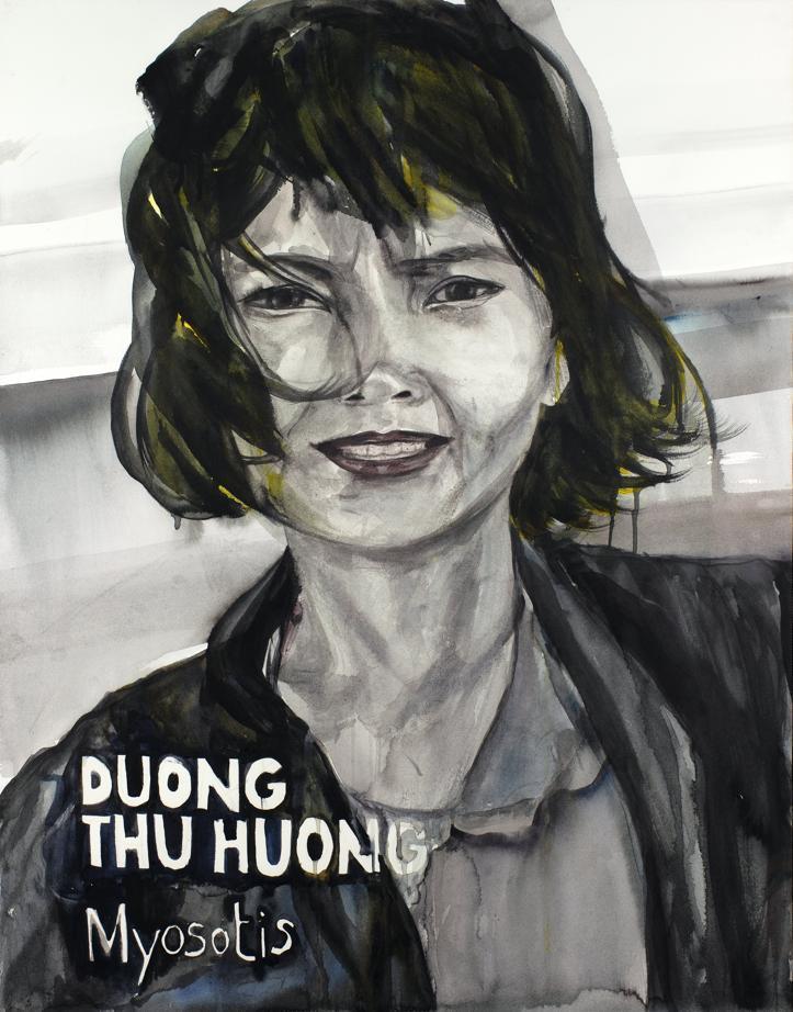 Portrait de Duong Thu Huong par Thu Van Tran